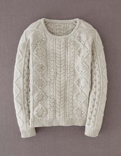 Cable Sweater WK894 Sweaters at Boden