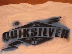 Men's Quiksilver Medium M bolt MTO white T shirt surf skate NEW NWT MT1889 TEE