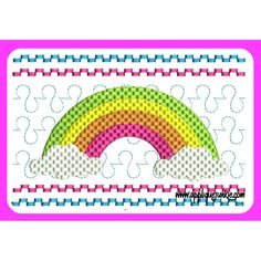 Faux Smocked Rainbow Embroidery Design / Applique Junkie