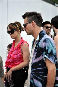 #CelesteCid con #Chano llegando al #MovistarFreeMusic.