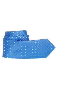 Boy's Nordstrom 'United Neat' Woven Silk Tie - Blue