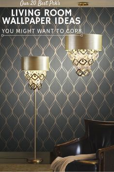 luxe living room decor idea with a dreamy wallpaper feature wall from modern wallpaper designs for living room Best Living Room Wallpaper, Blue Wallpaper Bedroom, Wallpaper Decor, Modern Wallpaper, Home Wallpaper, Silver Wallpaper, Damask Wallpaper, Blue Bedroom, Livingroom Wallpaper Ideas