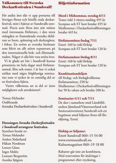 Svenska Deckarfestivalen har bytt webbplats!: Årets Program