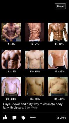 Men body fat percentage