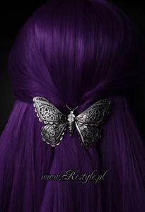 "Gothic hairclip ""MECHANICAL MOTH"" steampunk, hair accessory"