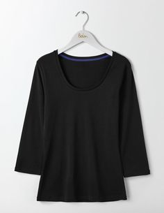 Essential Scoop Neck Tee J0050 3/4 Sleeved Tops at Boden