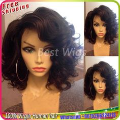 Online Shop 100% Virgin Brazilian Human Hair Short Wigs Bob Wig Body Wave Lace Front Wig Glueless Full Lace Wigs With Baby Hair Freeshipping Aliexpress Mobile