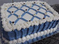 Cake Decorating Frosting, Cake Decorating Designs, Easy Cake Decorating, Cake Designs, Nutella Birthday Cake, 18th Birthday Cake, Cute Birthday Cakes, Cake Decorating For Beginners, Cake Decorating Techniques