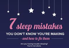 Infographic: Seven Sleep Mistakes You're Making And How To Fix Them - DesignTAXI.com
