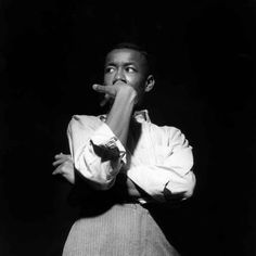 "Lee Morgan, John Coltrane's ""Blue Train"" session. © Francis Wolff"