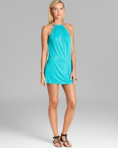 CIA.MARITIMA Jersey Drawstring Mini Dress Swim Cover Up | Bloomingdale's
