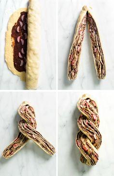 Rhubarb Babka: The Best Thing You'll Make All Spring Rhubarb Recipes, Fruit Recipes, Sweet Recipes, Cookie Recipes, Dessert Recipes, Dessert Ideas, Bread Recipes, Recipies, Chutney