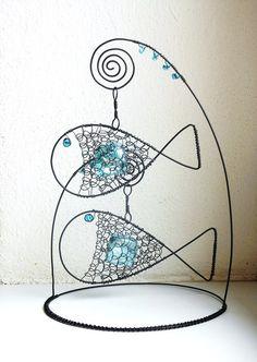 Stojánek s rybičkami - modrý
