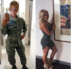 69 Stunning Army Women With & Without Uniform Looking Hot - - Women in Uniform Female Soldier, Female Marines, Army Soldier, Bd Comics, Military Girl, Military Women, Girls Uniforms, Pin Up, Gorgeous Women