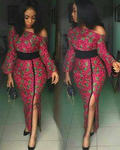 African Clothing/ Ankara Off Shoulder Dress/ Ankara Dress for women Tenue  Africaine, Model