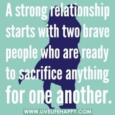 And that's part of the secret to a successful relationship - it's about the other person. The minute you stop thinking about yourself and think about the other, that's when you know it will work and you're ready for a mature relationship....but both partners need to come to the party and do this, otherwise it will be a rocky road and a difficult relationship to manage.