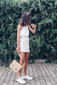 http://www.newtrendclothing.com/category/adidas-shoes/ white dress + #adidas shoes