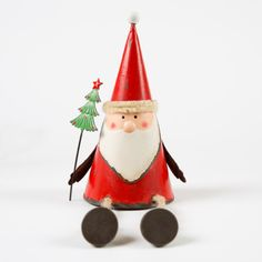 Sitting Nordic Santa with dangly legs
