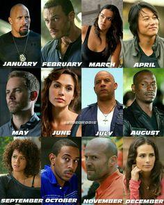 Luke Hobbs, Owen Shaw Leticia Ortiz Toretto, Han Seoul-Oh, Brian O'Connor, Gisele, Dominic Toretto, Roman Peirce, Ramsey, Tej Parker, Deckard Shaw & Mia Toretto O'Connor