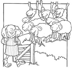 Parable Of The Lost Sheep Coloring Page