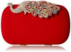 New Trending Clutch Bags: BMC Womens Elegant Rhinestone Peacock Clasp Velvet Cocktail Evening Handbag-RED. BMC Womens Elegant Rhinestone Peacock Clasp Velvet Cocktail Evening Handbag-RED   Special Offer: $21.99      233 Reviews Diamonds: use domestic grade A diamonds, 12 cutting surface, a long-lasting gloss retention, one of leader in high class diamonds.Hardware: using K Gold plating process,...