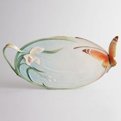 "Franz Collection ""Papillon"" Butterfly Handled Tray"