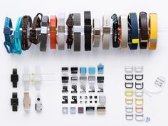 """""""With UP3, we have taken this even further and explored hundreds of internal component and sensor layouts, resulting in different widths and lengths of the band. These prototypes, often differing by as little as .3mm, were judged for comfort, size impression, and proportions before we selected the optimal ergonomics for a variety of wrist sizes."""" - Yves Behar"""