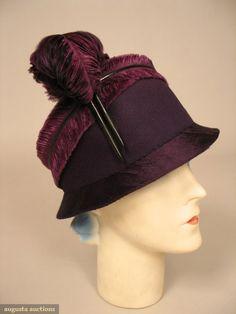 1920s hat via Augusta Auctions
