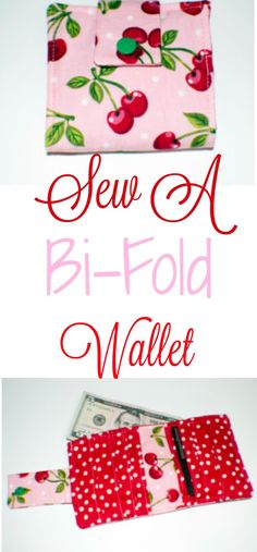 How to sew a Bi-Fold wallet. Complete tutorial. #wallet #sewing #sewingtutorial #sewingpattern