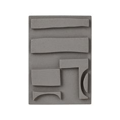 LDA RELIEF 1 - Decoration by Leise - Grey