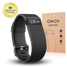 Awesome Fitbit Charge HR Screen Protector (10-Pack) - QIBOX Premium Clear Shatterproof Screen Protector for Fitbit Charge HR Wireless Activity Wristband, Anti-Fingerprint & Anti-Scratch Film Cover