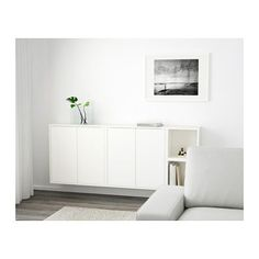 EKET Wall-mounted cabinet combination - white - IKEA