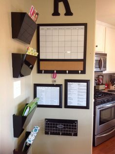 """My daily SAHM chore chart to keep house clean to enjoy weekends with family!   Love our command center  Our """"Family Command Center"""" in the kitchen.  Prep for twins coming and being a stay at home mom!!-The Riley's    Twicethejoydoublethefun.blogspot.com"""