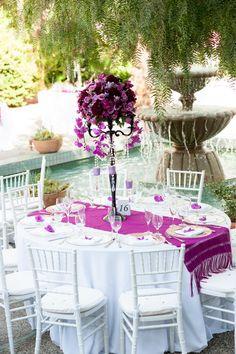 Purple Flower Center Piece!