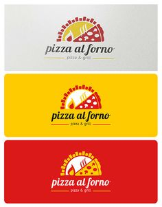 Buy Pizza al Forno Logo by bicone on GraphicRiver. Pizza al Forno is an ideal logo for any pizza related restaurant, fast food, delivery, catering and Italian food rela. Pizza Branding, Pizza Logo, Logo Branding, Food Logo Design, Menu Design, Logo Pizzeria, Pizza Store, Food Logos, Pizza Boxes