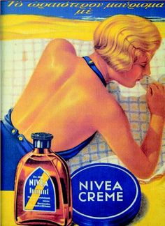 nivea old ad Vintage Advertising Posters, Old Advertisements, Print Advertising, Vintage Posters, Images Vintage, Vintage Ads, Vintage Signs, Old Posters, Old Commercials