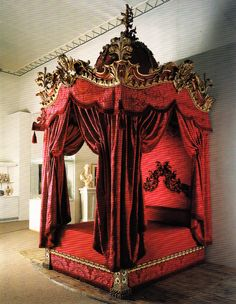 Petworth House, Sussex. Bed for the King of Spain's room. Book: Early Georgian Interiors by John Cornforth