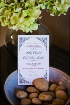 What a pretty invitation... classically elegant! Hill City Bride - C Tyler Corvin #wedding #stable #horse #rustic #rusticelegance #virginia #weddings #invitation #weddinginvitation