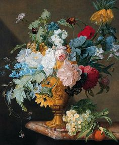 stilllifequickheart:  Jan Frans van Dael Flowers in Sculpted Vase Late 18th - early 19th century