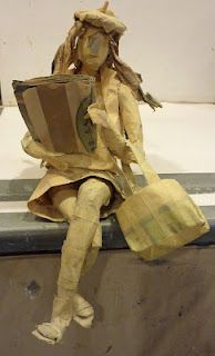 Designed by Jenni War. Follow the link for a tutorial about creating masking tape sculptures. Great high school level project.