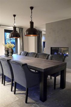 Dinning Chairs, Dining Room Furniture, Dinner Room, Hygge Home, Grey Room, House Inside, Dining Room Design, Home Decor Kitchen, Cabana