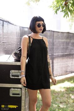 The very best street style festival looks from Lollapalooza Best Street Style, Street Style Looks, Festival Outfits, Festival Fashion, Estilo Grunge, Looks Black, Festival Looks, Monochrom, Look Cool