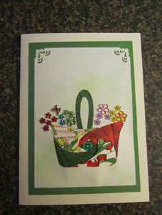 Iris Folding - Birthday basket
