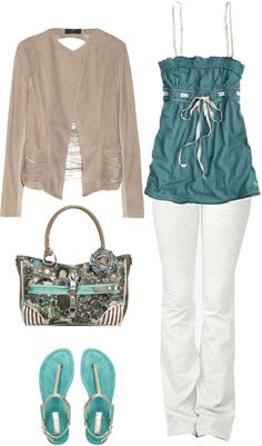 A fashion look from April 2013 featuring suede jacket, Forever 21 and flat sandals. Browse and shop related looks. Cute Fashion, Fashion Looks, Fashion Outfits, Womens Fashion, Fashion Trends, Fashion Ideas, Spring Summer Fashion, Spring Outfits, Stylish Outfits