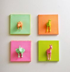 How to Make Mini Animal Canvases | The Art 123