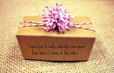 Learn how to make this cute bakers twine mini pom n this short video... http://www.nashvillewrapscommunity.com/blog/2013/08/bakers-twine-favor-boxes-craft-ideas/ #bakerstwine #bakerstwinepom #cutefavorboxes