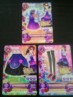 "Trading card of Japanese Idol Animation ""AIKATSU"" Beaune 1er coordinate"