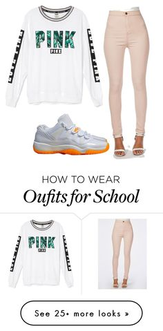 """School flow"" by jazmineanderson575 on Polyvore featuring NIKE and Victoria's Secret"