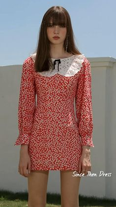Girl Outfits, Casual Outfits, Romantic Outfit, Parisian Style, Feminine Style, Vintage Dresses, Style Inspiration, Summer Dresses, Clothes