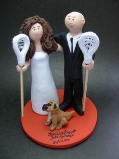 Lacrosse Wedding Cake Topper